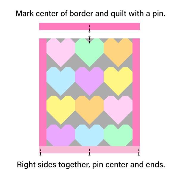 Pin Horizontal Quilt Border
